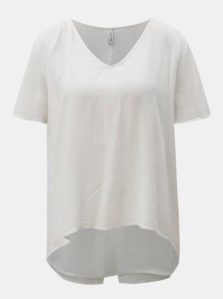 Biele tričko s prekladanou zadnou časťou Blendshe jamiro