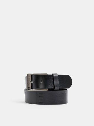 Černý pánský kožený pásek NUGGET Fever