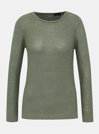 Zelený svetr M&Co Eyelet