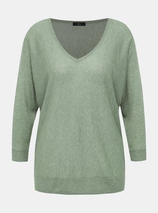 Zelený lehký svetr s 3/4 rukávem M&Co