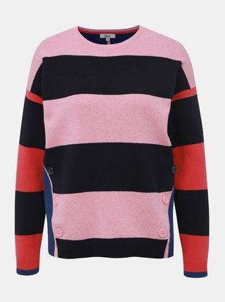 Modro-růžový pruhovaný svetr M&Co Milano