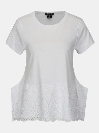 Bluza alba cu madeira DKNY