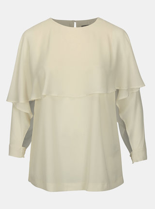 Bluza crem cu decupaj la maneci Ulla Popken