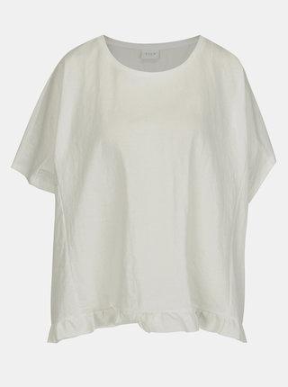 Krémové tričko VILA Rose