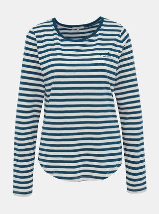 Bílo-modré dámské pruhované tričko Pepe Jeans Merveille