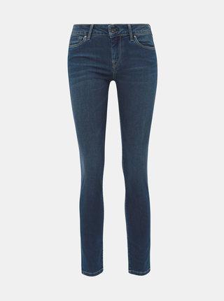 Tmavě modré dámské skinny fit džíny s nízkým pasem Pepe Jeans Soho