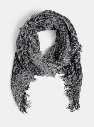 Černo-šedá dámska šála Haily´s Lenora