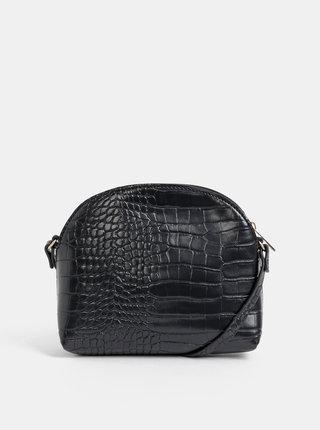 Čierna crossbody kabelka s krokodýlím vzorom Haily´s Camilla