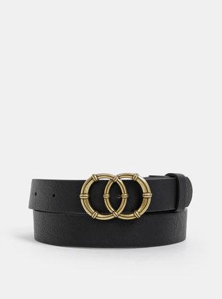 Černý dámský kožený pásek Haily´s Lola