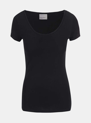 Čierne basic tričko s okrúhlym výstrihom VERO MODA Maxi My