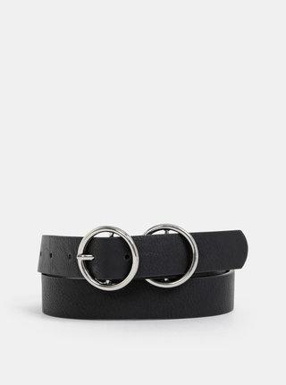 Černý dámský kožený pásek Haily´s Pollie
