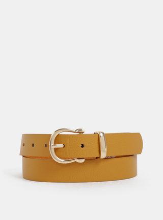Hořčicový dámský kožený pásek Haily´s Ayla