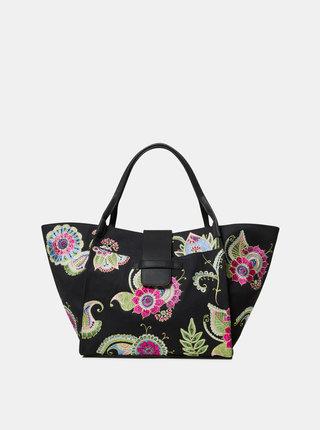 Čierna kvetovaná kabelka Desigual Anubis Zaria