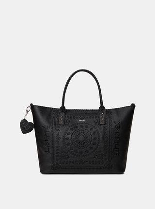 Čierna kabelka s výšivkou Desigual Soft Bandada Holdbox
