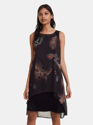 Čierne vzorované šaty Desigual Montreal