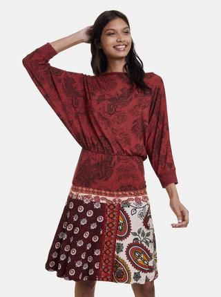 Červené vzorované šaty Desigual Indira