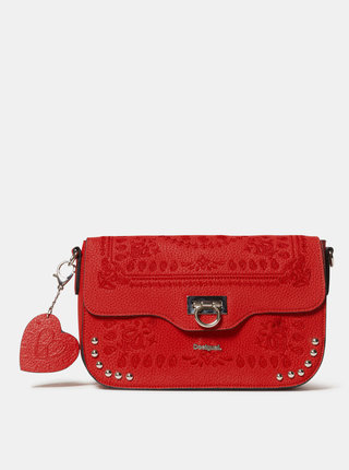 Červená vzorovaná crossbody kabelka Desigual Soft Bandana