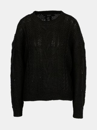 Čierny sveter VERO MODA Wale