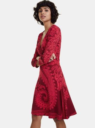 Červené vzorované šaty Desigual Marlene