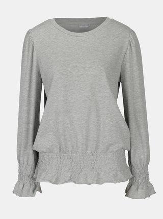 Bluza gri melanj cu insertii elastice  Jacqueline de Yong Neel