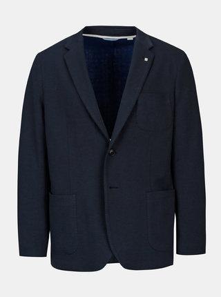 Tmavě modré pánské úpletové sako GANT