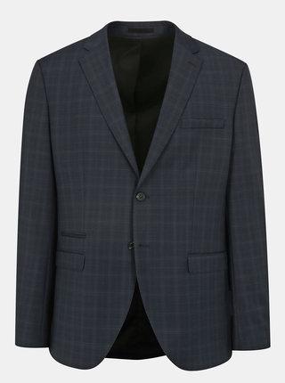 Sacou de costum bleumarin din lana cu carouri discrete - Selected Homme Done Buffalo