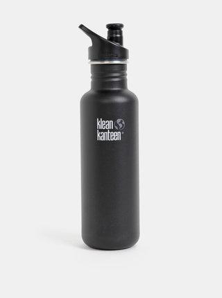 Čierna nerezová fľaša Klean Kanteen 800ml