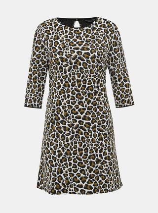 Čierno-biele šaty s leopardím vzorom Dorothy Perkins