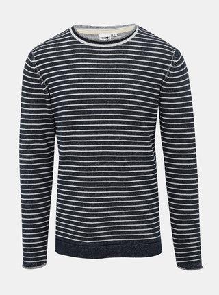Tmavomodrý pánsky pruhovaný sveter Haily´s Jona