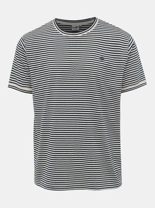 Krémovo-modré pánské pruhované tričko Haily´s Tony