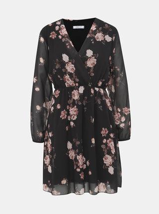 Čierne kvetované šaty Haily´s Lina