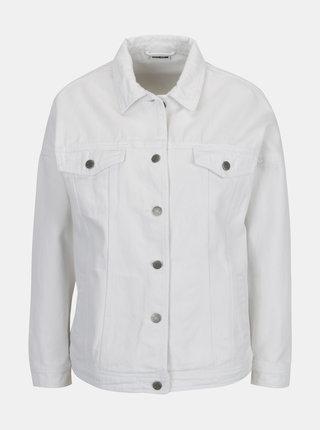 Biela rifľová bunda Noisy May Kell