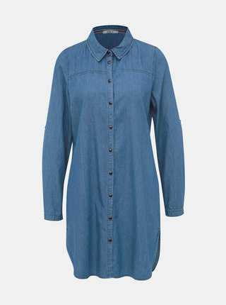 Modrá dámska dlhá rifľová košeľa Haily´s Paola