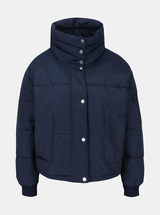 Tmavě modrá zimní prošívaná bunda Noisy May Morris