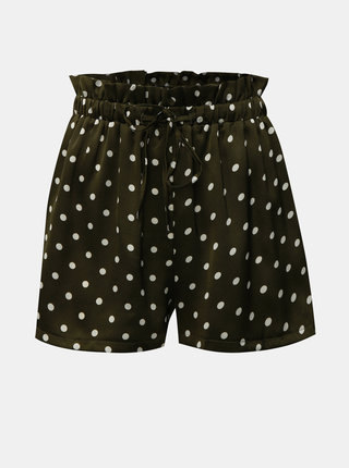 Pantaloni scurti kaki cu buline si talie inalta MISSGUIDED