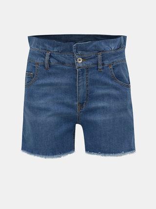 Pantaloni scurti albastri din denim cu talie inalta Fornarina Mercy