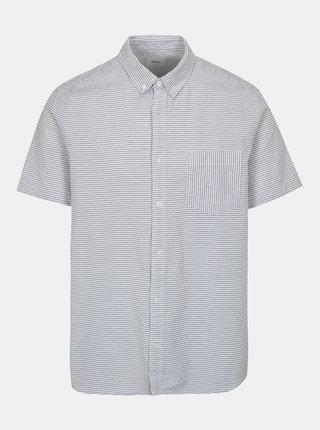 Modro-bílá pruhovaná košile Burton Menswear London