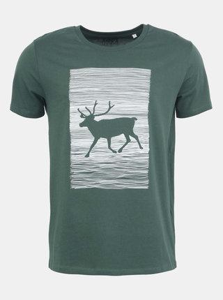 Pánské tričko ZOOT Originál Jelen Wapiti v zelené barvě