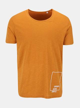 """""""Dobré"""" oranžové pánské tričko pro Jeden Svět"""