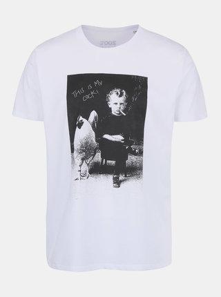 Tricou alb din bumbac organic pentru barbati - ZOOT Original This Is My Cock