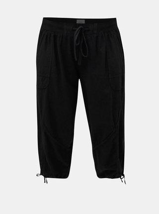 Pantaloni negri scurti cu banda elastica in talie Zizzi