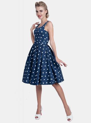 Modré puntíkované šaty Dolly & Dotty Amanda