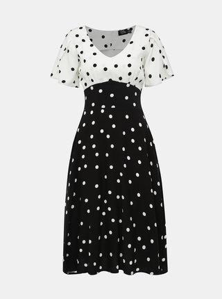 Bílo-černé puntíkované šaty Dolly & Dotty Janice