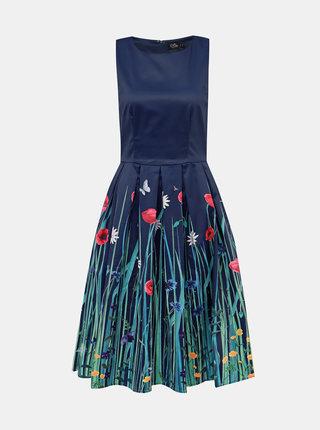 Tmavě modré květované šaty Dolly & Dotty Annie