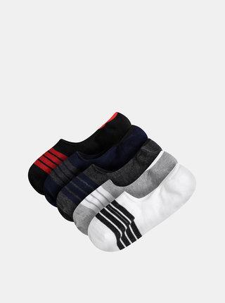 Sada pěti párů šedo-modrých ponožek Burton Menswear London