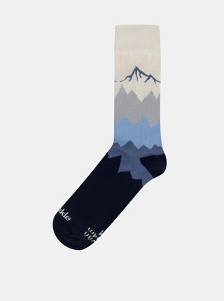 Sosete unisex bleumarin cu peisaj montan - Fusakle Kriváň