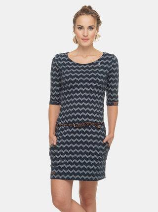 Tmavě modré vzorované šaty Ragwear Tanya Zig Zag