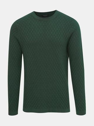 Tmavozelený sveter Selected Homme Kent