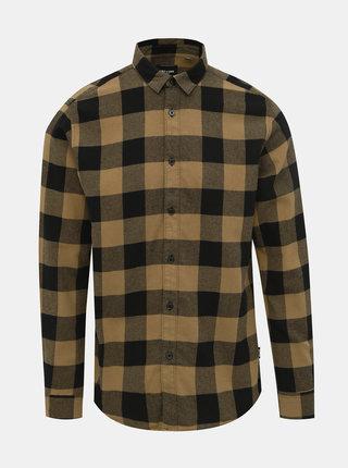 Černo-hnědá kostkovaná košile ONLY & SONS Gudmund