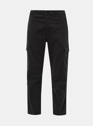Tmavě šedé kalhoty ONLY & SONS Aged